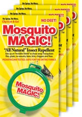 Mosquito Magic Clip 4 Pack! Clip it on and go protection from flying pests!