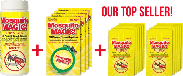 Mosquito Magic Family Combo Special! Get all the Mosquito Magic products you need for the Summer season!